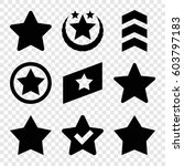 set of 9 rating filled icons...