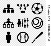 set of 9 team filled icons such ... | Shutterstock .eps vector #603799493