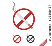 no smoking sign set | Shutterstock .eps vector #603808457