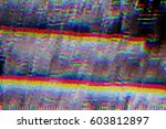 test screen glitch texture | Shutterstock . vector #603812897