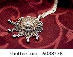 close up women's necklace | Shutterstock . vector #6038278