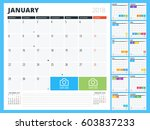 calendar planner for 2018 year. ... | Shutterstock .eps vector #603837233