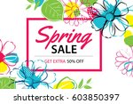 spring sale poster template... | Shutterstock .eps vector #603850397