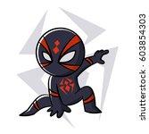 Superhero Black Spider Sticker...