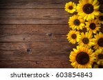 autumn background with... | Shutterstock . vector #603854843