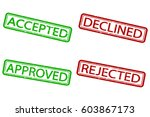 approved  rejected  accepted ... | Shutterstock .eps vector #603867173