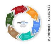 infographics web design... | Shutterstock .eps vector #603867683