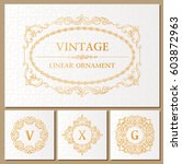 vintage retro frame and... | Shutterstock .eps vector #603872963