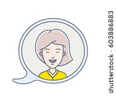 chat bubble with avatar symbol. ...   Shutterstock .eps vector #603886883