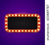 vector realistic retro neon... | Shutterstock .eps vector #603889787