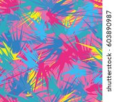 bright abstract seamless... | Shutterstock .eps vector #603890987