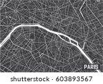 minimalistic paris city map... | Shutterstock .eps vector #603893567