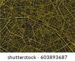 black and yellow vector city... | Shutterstock .eps vector #603893687