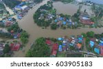 aerial view of flood in... | Shutterstock . vector #603905183