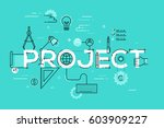 thin line design template for... | Shutterstock .eps vector #603909227