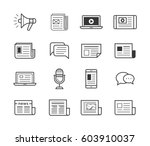 icon set for news agency and... | Shutterstock .eps vector #603910037