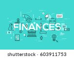 modern infographic banner with... | Shutterstock .eps vector #603911753