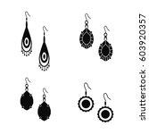 female earrings vector...   Shutterstock .eps vector #603920357