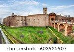 view of castillo de montjuic on ...   Shutterstock . vector #603925907