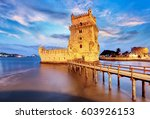 belem tower  lisbon  porugal | Shutterstock . vector #603926153