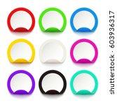 paper labels  | Shutterstock .eps vector #603936317