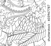 tracery seamless calming...   Shutterstock .eps vector #603967787