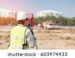 asian construction engineer... | Shutterstock . vector #603974933