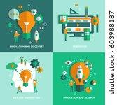 web design  idea and... | Shutterstock .eps vector #603988187