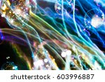 Abstract Colorful Soap Bubbles...