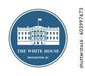 white house building icon in... | Shutterstock .eps vector #603997673