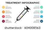 vector syringe treatment... | Shutterstock .eps vector #604008563