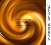 golden swirling caramel... | Shutterstock .eps vector #604009487