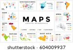 vector map infographic. slide... | Shutterstock .eps vector #604009937