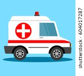 vector illustration ambulance... | Shutterstock .eps vector #604017287