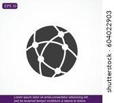 global technology or social... | Shutterstock .eps vector #604022903