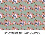 raster illustration. seamless... | Shutterstock . vector #604022993