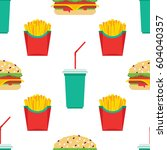 seamless pattern consisting of... | Shutterstock .eps vector #604040357