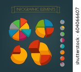 business infographic elements... | Shutterstock .eps vector #604066607