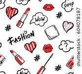 Fashion Illustration Seamless...