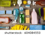 variety of cleaning products | Shutterstock . vector #604084553