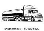 american tanker semi truck... | Shutterstock .eps vector #604095527