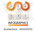 infographics circular vector...   Shutterstock .eps vector #604102553