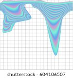 iridescent streaks on a white... | Shutterstock .eps vector #604106507