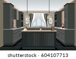kitchen old design  kitchen... | Shutterstock .eps vector #604107713