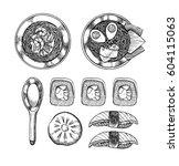 hand drawn vector illustration  ...   Shutterstock .eps vector #604115063