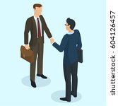 successful businessmen... | Shutterstock .eps vector #604126457