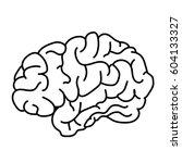 flat style human brain side... | Shutterstock .eps vector #604133327