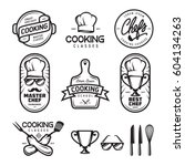 cooking classes labels badges... | Shutterstock .eps vector #604134263
