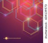 hexagonal geometric background. ... | Shutterstock .eps vector #604139573