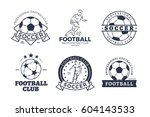 set of football club graphic... | Shutterstock .eps vector #604143533